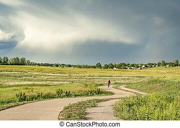 regional bike trail in Colorado foothills