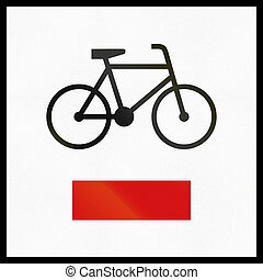 Polish informational sign: Regional cycle route.