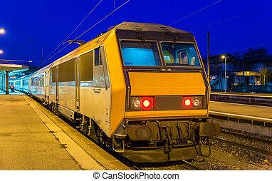 Regional express train at Mulhouse station - France