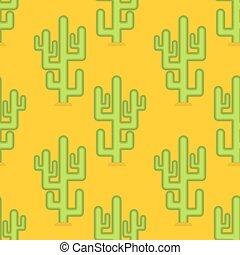 regione selvaggia, peyote, pattern., seamless, giallo, grande, fondo, cactus, deserto