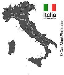 regioni, italia