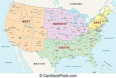 regioni, stati, unito