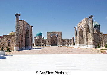 Samarkand - Registan, Samarkand, Uzbekistan. Registan is one...