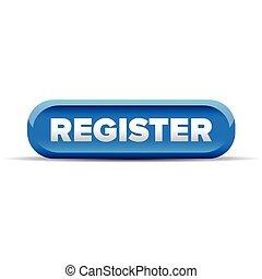 Register blue button vector