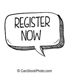 register button design - register speech bubble design,...