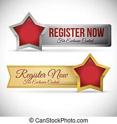 register button design