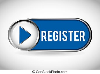 register button design, vector illustration eps10 graphic