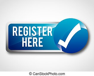 register button design, vector illustration eps10 graphic