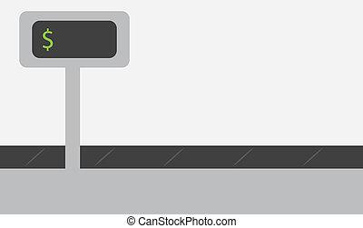Register Conveyor Belt - Register conveyor belt with blank...