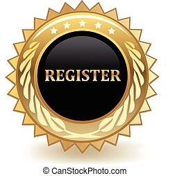 Register gold badge.