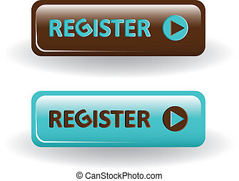 register buttons - brown and blue