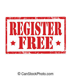 Register Free-stamp - Grunge rubber stamp with text Register...