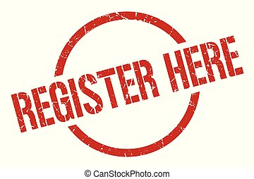 register here red round stamp