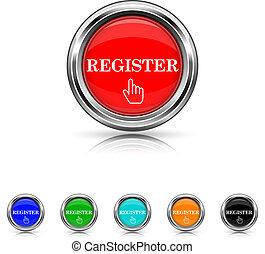 Register icon - six colours set
