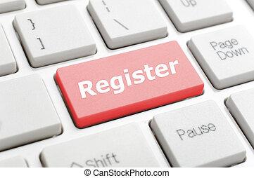 Register key on keyboard