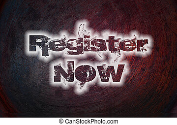 Register now concept