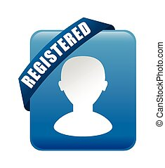 Register now design. - Register now design over white...