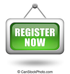 Register now signboard