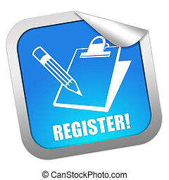 Register now sticker