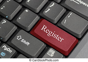 Register on keyboard