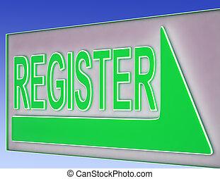 Register Sign Button Shows Website Registration