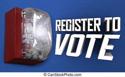 Register to Vote Election Reminder Registration Alarm 3d Illustration