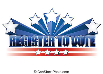 Register to vote illustration design over white background