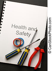 Register with pliers and screwdrivers
