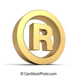 registered mark concept 3d illustration - registered mark 3d...