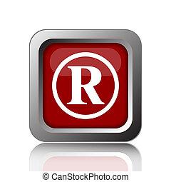Registered mark icon. Internet button on white background