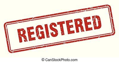 registered stamp. registered square grunge sign. registered