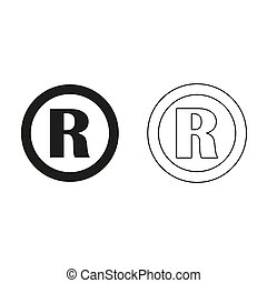 Registered Trademark - green vector icon