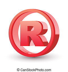 registered trademark sign isolated white background