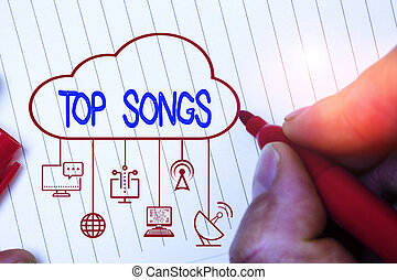 registrado, foto, cima, songs., escritura, nota, se...