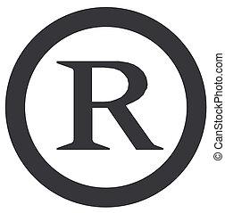 registrado, símbolo