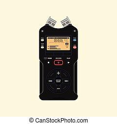 registrador, áudio