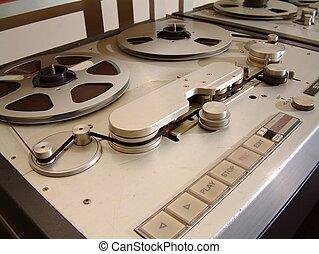 registrador, audio, cinta