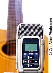 registrador, música, digital