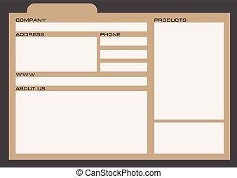 Information card for databases