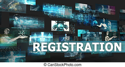 Registration Presentation Background with Technology Abstract Art