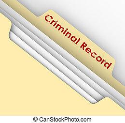 registrazione criminale, cartella manila, crimine, dati,...