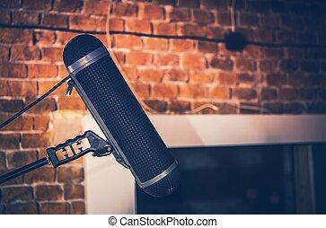 registrazione, microfono, studio