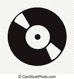 registreren, vinyl, retro, pictogram