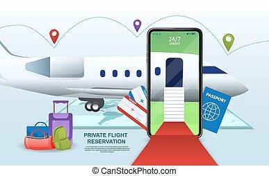 registrering, begreb, online, menig, fly