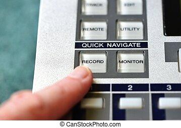 registro, botão