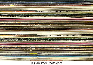 registro, cartón, viejo, cubiertas