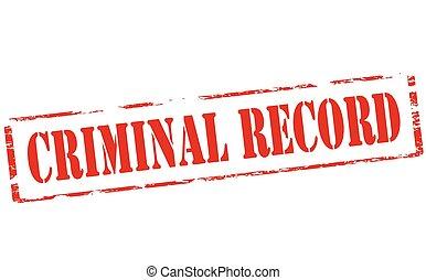 registro, criminal