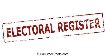 registro, elettorale