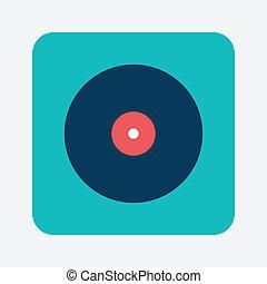 registro, musical, ícone