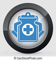 registros médicos, ícone